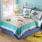 2PC Ocean Life Colorful Sea TWIN Quilt & Sham Bedding Set QS3909FQ