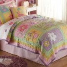 4PC Pink Daisies Sweet Helen Full Queen Quilt Bedding QS6131FQ