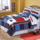 3PC Race Cars Patchwork Full Queen Quilt Bedding Set QS6002FQ