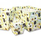 3PC Retro Giggles Brown Fabric Storage Bins 101648