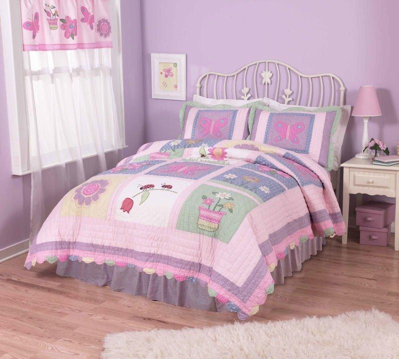 5PC Annas Pink Dream Twin Quilt Bedding Set QS1715TW