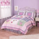 5PC Annas Pink Dream Twin Quilt Bedding Set QS1715TW