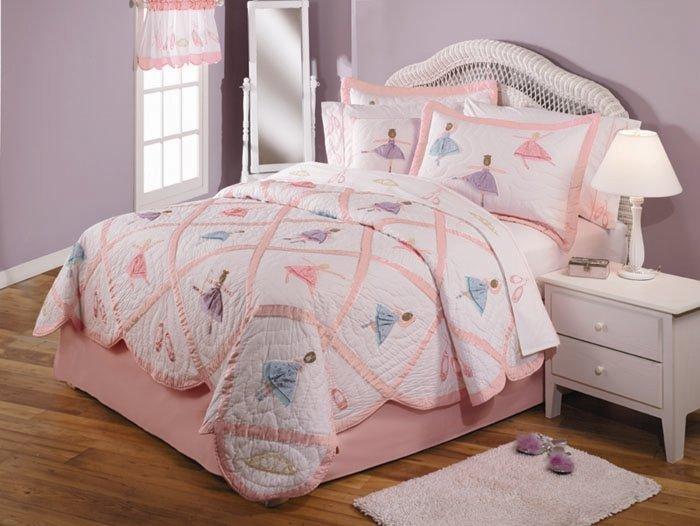 7PC Pink Ballet Recital QUEEN Quilt Bedding Set QS0748QN