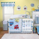 6PC BLUE Dr. Seuss ONE Fish Crib Bedding Set 30185