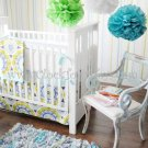 New Arrivals 3PC indigo Summer Blue Crib Bedding