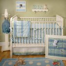 New Arrivals Sweet Pea Blue Stripe Crib Bedding BC-sweetpea