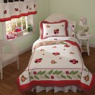 5PC Red Lady Bug Yard Twin Quilt Bedding w/ Sheets QS3614TW
