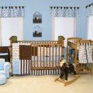 4PC BLUEBerry Stripe Crib Baby Bedding by Trend Lab 106570