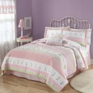 3PC PINK & Ribbon Daisy Flowers TWIN Sheet Set Product ID:  SS1933TW