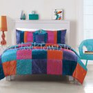 2PC Nelli Boho Multi-Colored Patchwork TWIN Comforter Set CS8040TW