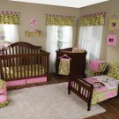 5PC PINK Dora The Explorer Crib Baby Bedding 60000