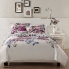 7PC Contemporary Evanescent PINK Sketched Floral QUEEN Comforter Set BIB8228QN