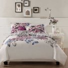 7PC Contemporary Evanescent PINK Sketched Floral KING Comforter Set BIB8228KG