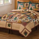 2PC Autumn Treasure Rustic TWIN Quilt Bedding Set W/ Sham QS7507TW