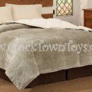 MINK Reversing to Cloud Fleece SAGE FULL/QUEEN Comforter CF6126SGQN
