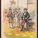 "Victorian Trade Card - Arbuckle Brothers Coffee Company - ""WISDOM THAT COMES TOO LATE"" (#12)"