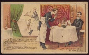 "Victorian Trade Card - Arbuckle Brothers Coffee Company - ""OF PISCATORIAL INTEREST"" (#63)"