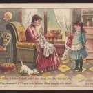Victorian Trade Card - Arbuckle Brothers Coffee Company - Satire (no caption - Elsie's dress) (#69)