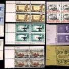 1958-62 - 20 Different 4 Commemorative Plate Blocks