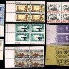 1958-62 - 20 Different 4¢ Commemorative Plate Blocks