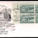 ART CRAFT - 1953 Washington Territory (#1019) FDC - PB UA