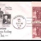 ART CRAFT - 1955 Pennsylvania Academy of Fine Arts (#1064) FDC - PB UA