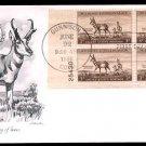 ARTMASTER - 1956 Pronghorn Antelope Wildlife Conservation (#1078) FDC - PB UA