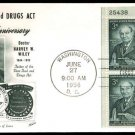 FLEETWOOD - 1956 Pure Food Drug Act (#1080) FDC - PB UA