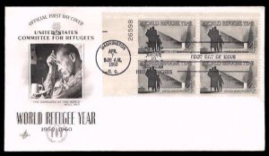 ART CRAFT - 1960 World Refugee Year (#1149) FDC - PB UA