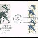"ARTMASTER - 1963 John James Audubon ""Columbia Jays"" (#1241) FDC - PB UA"