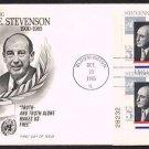 FLEETWOOD - 1965 Adlai Stevenson (#1275) FDC - PB UA