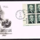 ART CRAFT - 1968 Thomas Jefferson (#1278) FDC - PB6 UA