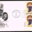 ART CRAFT - 1966 Indiana Statehood Sesquicentennial (#1308) FDC - PB UA