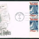 ART CRAFT - 1966 Bill of Rights (#1312) FDC - PB UA