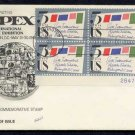 FLEETWOOD - 1966 Sixth International Philatelic Exhibition (#1310) FDC - PB UA