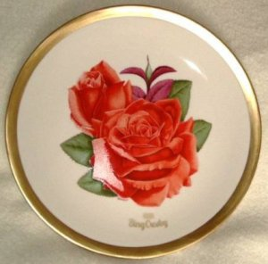 1981 American Rose Society All-American Rose Plate - BING CROSBY