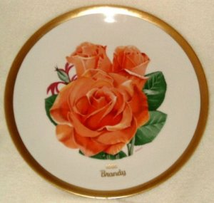 1982 American Rose Society All-American Rose Plate - BRANDY