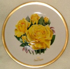 1983 American Rose Society All-American Rose Plate - SUN FLARE