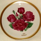 1984 American Rose Society All-American Rose Plate - INTRIGUE