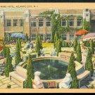 1930s Atlantic City, New Jersey - Traymore Hotel Patio - LINEN Postcard