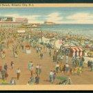 1930s Atlantic City, New Jersey - Boardwalk & Beach - LINEN Postcard
