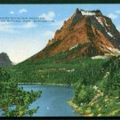 1940s GLACIER National Park - Going-To-The-Sun Mountain - LINEN Postcard