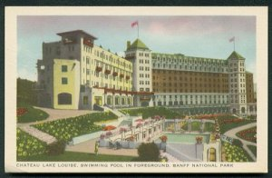 1950s Canadian Pacific Railway Postcard - Chateau Lake Louise, BANFF National Park, Canada