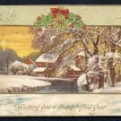 1909 Embossed HAPPY NEW YEAR Postcard - Used