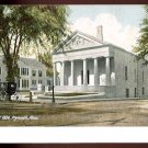 PLYMOUTH, MASSACHUSETTS Vintage Postcard - Pilgrim Hall - Horse & Buggy