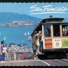 SAN FRANCISCO, California Postcard - Hyde Street Cable Car #516, Alcatraz