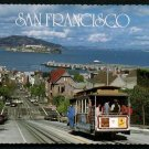 1986 SAN FRANCISCO, California Postcard - Hyde Street Cable Car #7, Fishermans Wharf, Alcatraz