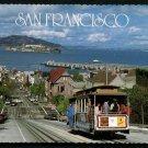 1986 SAN FRANCISCO, California Postcard - Hyde Street Cable Car #7, Fishermans Wharf, Alcatraz