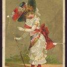 STANDARD COFFEE (Schnull-Krag Coffee Co.) Victorian Trade Card - Little girl in fancy white dress