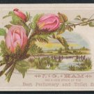 J.G. HAM Victorian Trade Card - Perfumery and Toilet Soaps